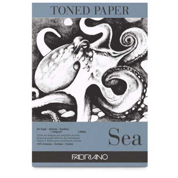 Fabriano Toned Paper Pad Sea, Size - A3, 120 GSM (Contains- 50 Sheets)