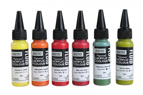 Brustro Professional Artists' Fluid Acrylic 20 ml Tropical Paradise Pack of 6