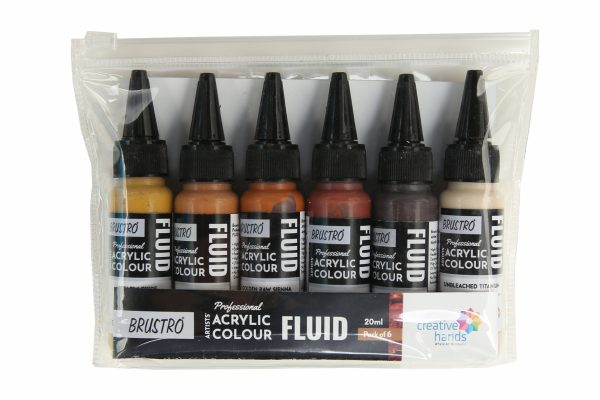 Brustro Professional Artists' Fluid Acrylic 20 ml Down to Earth Pack of 6