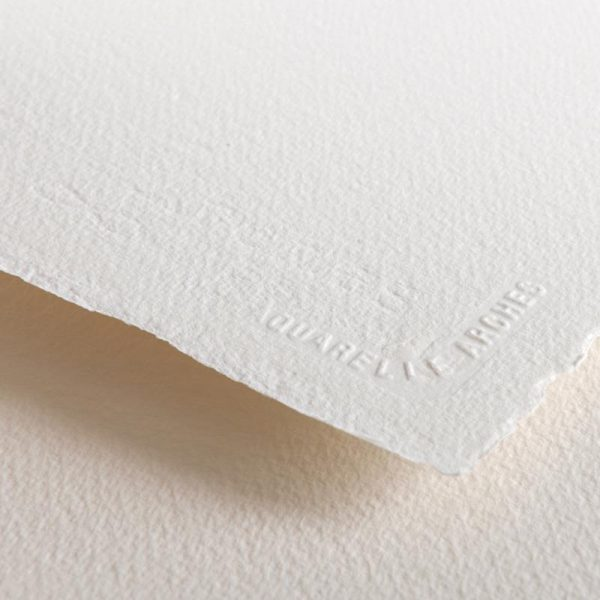 Arches Watercolour Paper Hot pressed 300 Gsm , 11 X 15 inches  ( Pack of 6 sheets ) Free Sennelier Aquarelle watercolour 5ml sachet