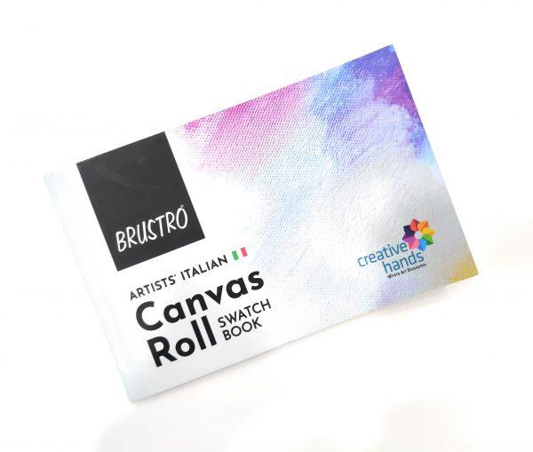 Brustro Artists' Italian Canvas Roll Swatch Book