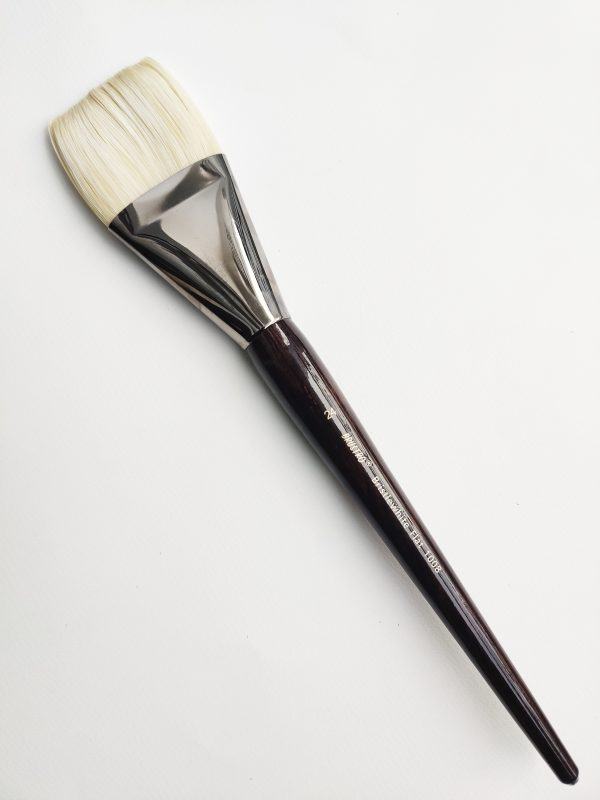 Brustro Artists Bristlewhite Flat Brush Series 1008 - Brush No. 24 (for Oil & Acrylic)