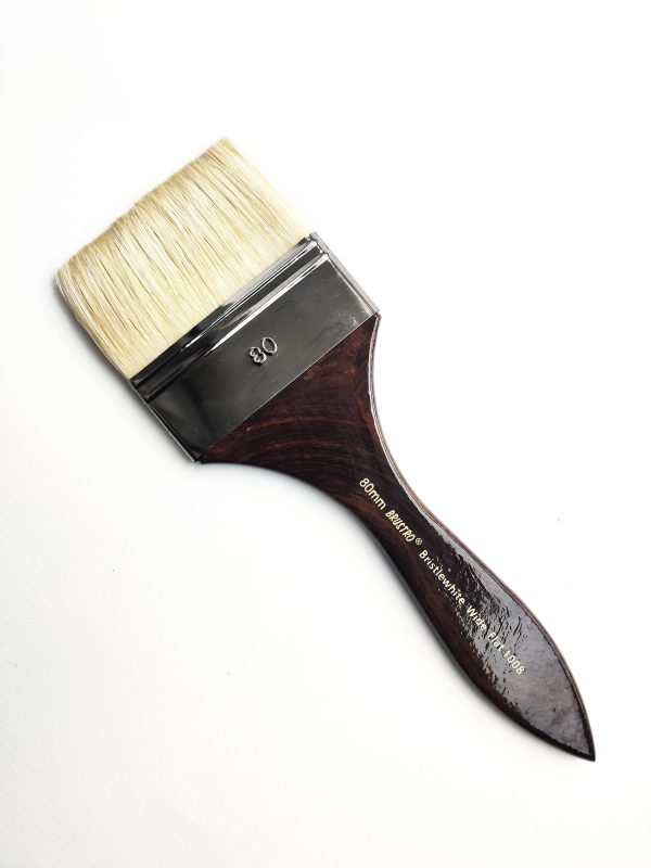 Brustro Artists Bristlewhite Flat Brush Series 1008 - Wide Brush, Size - 80mm (for Oil & Acrylic)
