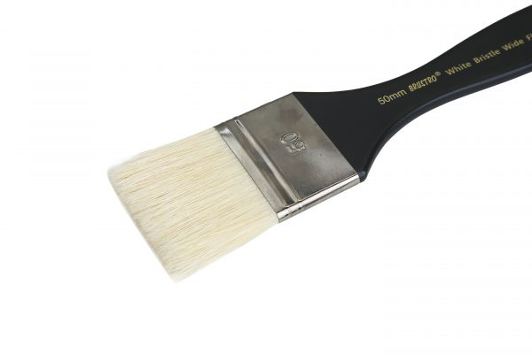 Brustro Artists White Bristle Wide Flat Brush - Series 1002 - Size - 50MM (for Oil & Acrylic)