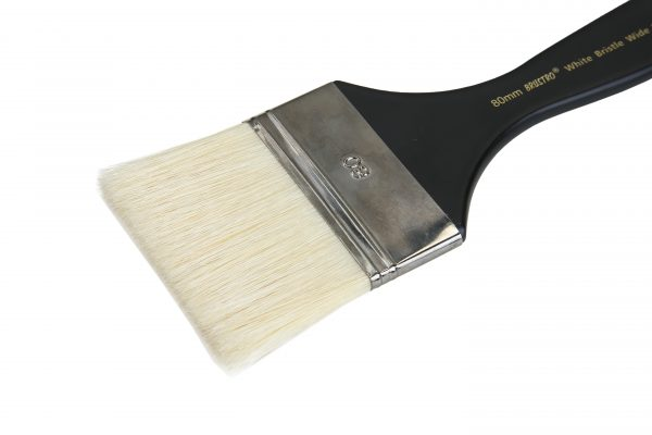 Brustro Artists White Bristle Wide Flat Brush - Series 1002 - Size - 80MM (for Oil & Acrylic)