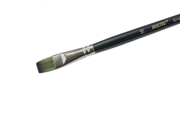 Brustro Artists Greengold Acrylic Brush Flat Series 1800 (OPEN STOCK)