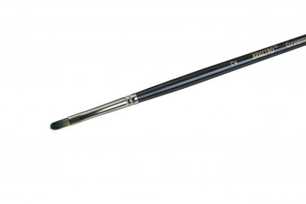 Brustro Artists Greengold Acrylic Brush Filbert Series 1800 - Size - 2