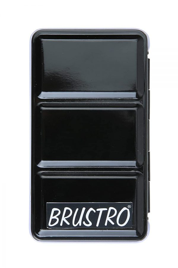 Brustro Empty Watercolour 12 Half Pan Metal Box (Pans Included)