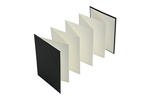 Brustro Artists Fanfold Watercolour Book 100% Cotton Mouldmade 300 GSM Hot Pressed 10.5x15cm.(9 Folds/18 Sides)
