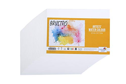 Brustro Artists' Watercolour 25% Cotton 200gsm Cold Pressed 10 X 14 cm (75 Sheets)