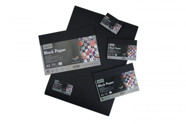 Brustro Black Paper - 200 GSM (OPEN STOCK)