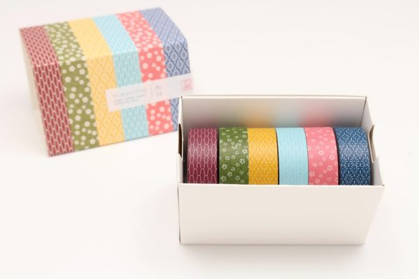 MT Washi Japanese- Masking Tape , 15 mm x 10 mtrs Shade - Wamon ( Series 3 ), Pack Of 6