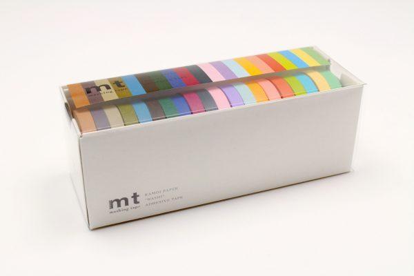 MT Washi Japanese Masking Tape, 7 mm x 10 mtrs Shade - Light & Dark, ( Pack Of 20 )