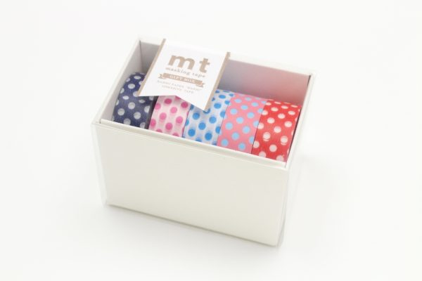 MT Washi Japanese Masking Tape Gift Box, 15 mm x 5 mtrs Shade - POP2, (Pack of 5)