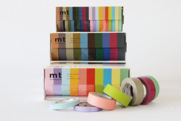 MT Washi Japanese Masking Tape , 15 mm x 10 mtrs Shade - Dark Color, ( Pack Of 10 )