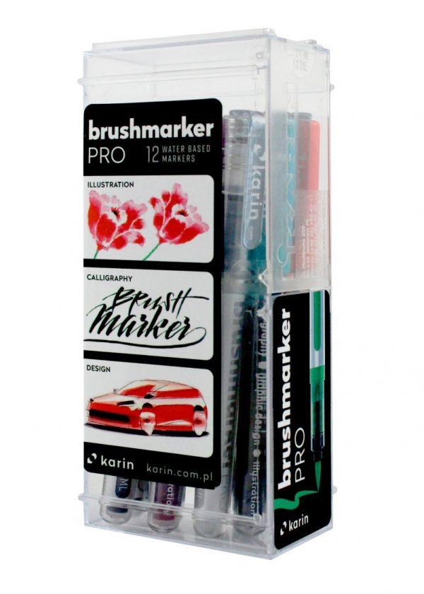 Karin 27 °C1 Brush Pro Basic Colours Set with Blender (Box 12)