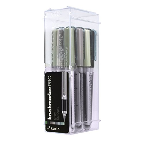 Karin Brush Marker Pro 12 Grey Colours Set