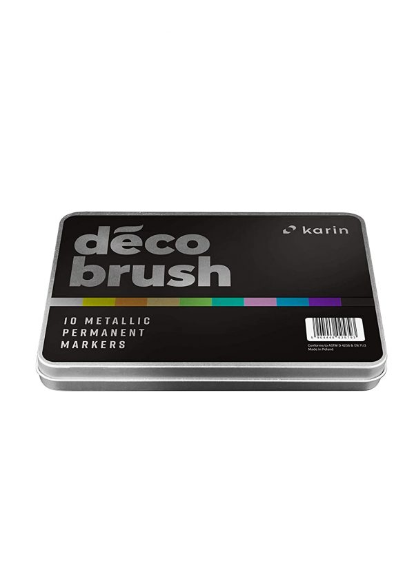 Karin brush marker Déco Metallic 10 Colours set