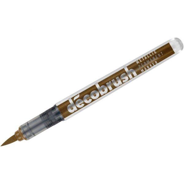 Karin DecoBrush Marker - Pigment Based - Brush Tip - Metallic Copper (8596)