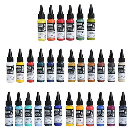 Brustro Professional Artists' Fluid Acrylic 20 ml Full Range of 30 Shades