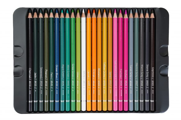 Brustro Artists' Colour Pencil Set of 72 ( In Elegant Tin Box )