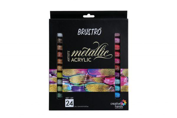 Brustro Artists' Metallic Acrylic Set of 24x12ml