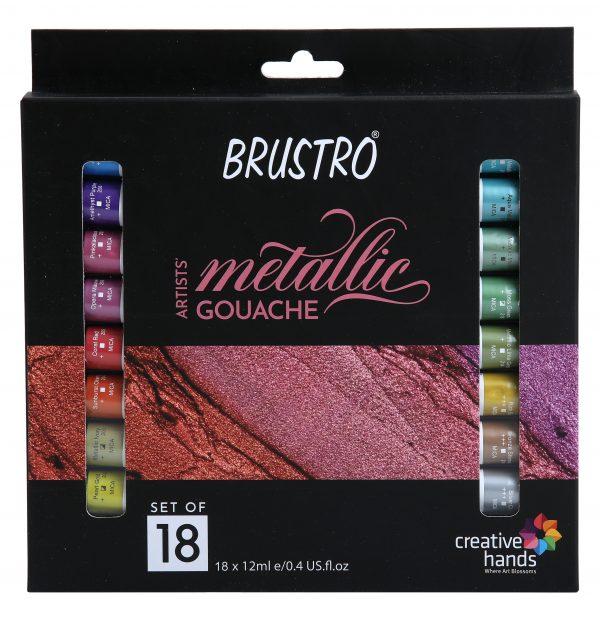 Brustro Artists' Metallic Gouache Set of 18x12ml