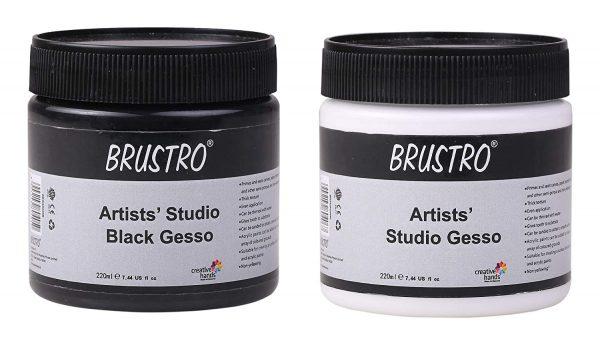 Brustro Studio Gesso Black and White 220ml