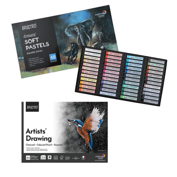 Brustro Artists' Soft Pastels Set -COMBOS (Open Stock)