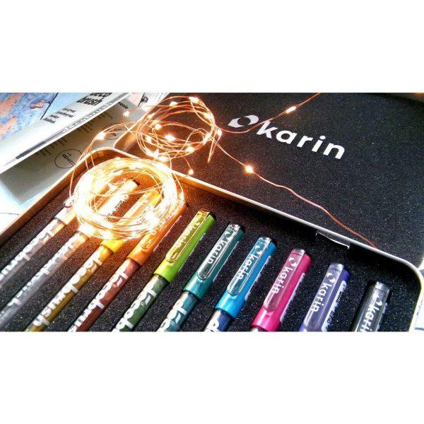 Karin Deco Brush Marker Pigment Based Brush Tip-Metallic Shades (Open Stock)