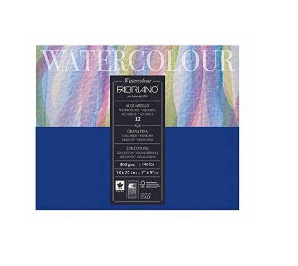 Fabriano Studio Watercolor Blocks CP 300 GSM 18 X 24 cm