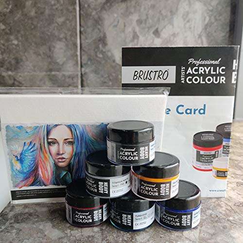 BRUSTRO Professional Artists HeavyBody Acrylic Paint Packs - 10ML Pack of 6 - Test The Best