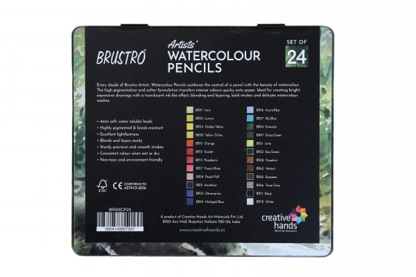 Brustro Artists' Watercolour Pencil Set of 24