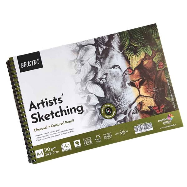 Brustro Artists Sketching Wiro Pad A4-110GSM (40 Sheets)