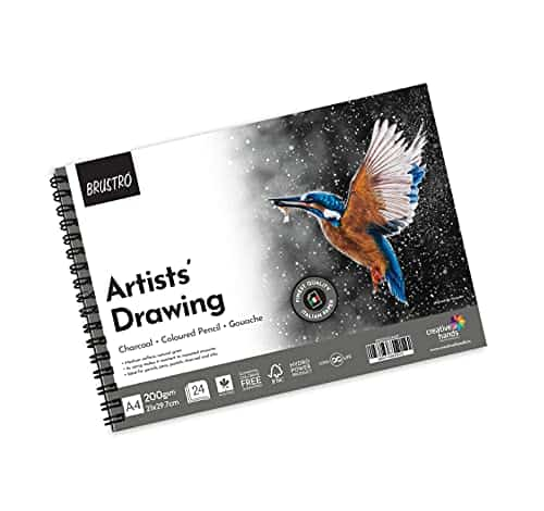 Brustro Artists Drawing Wiro Pad A4-200GSM (24 Sheets)
