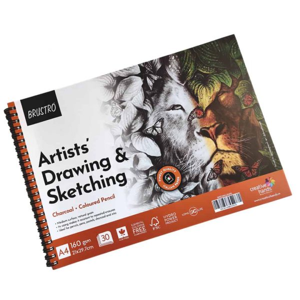 Brustro Artists Drawing & Sketching Wiro Pad A4-160GSM (30 Sheets)