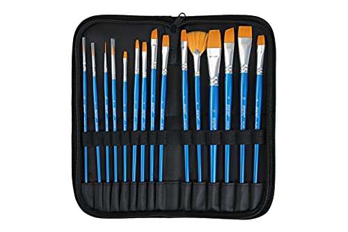 Brustro Artists Gouache Colour Set of 24 ( 12ML Tubes Each ) + Synthetic Brush Set of 15 + Drawing Pad 200 gsm Wiro Bound