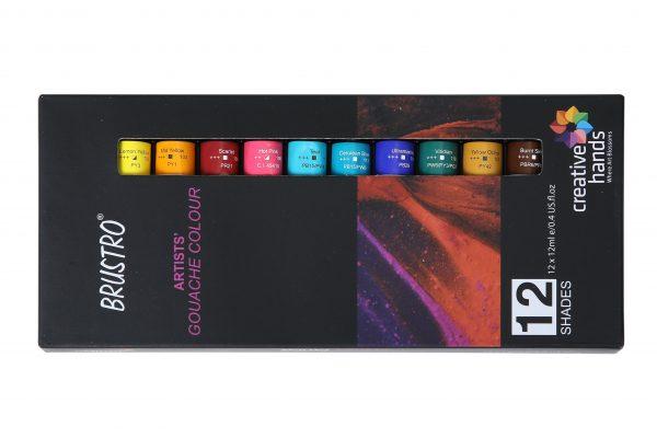 Brustro Artists Gouache Colour Set of 12 Colours X 12ML Tubes